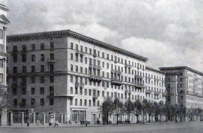 Можайское шоссе (Кутузовский проспект). 1957-1960гг.