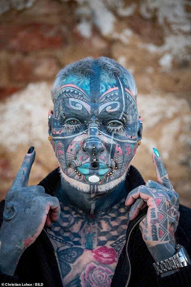 Магнето: самый татуированный пенсионер в Германии