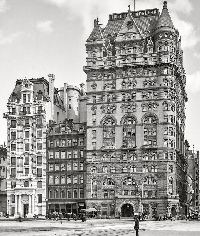"""Отель """"Недерланд"""", Нью-Йорк, 1905г. Разрушен в 1927г."""