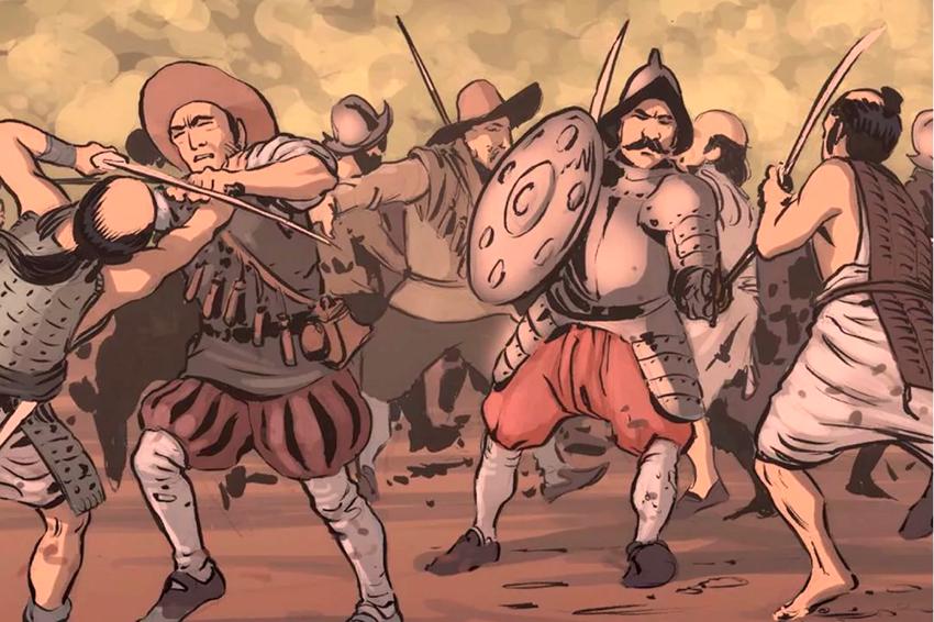 Как40испанцев разгромили 600самураев