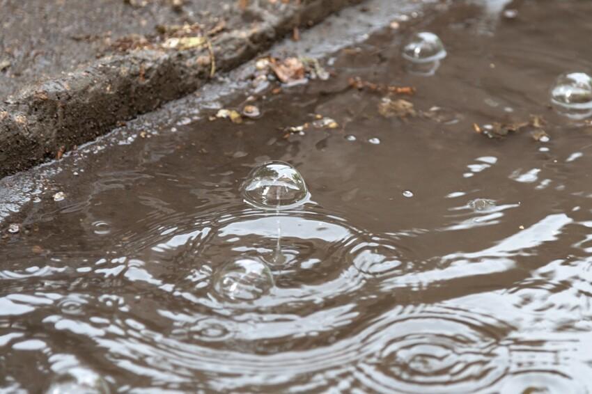 Пузыряем: из-за чего налужах вовремя сильного дождя появляются пузыри?