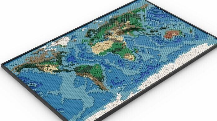 """""""Я сделал карту из Лего на основе Гугл-карт и топологических карт планеты"""""""