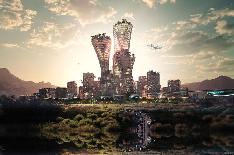 Личный город для американского миллиардера (4 фото)