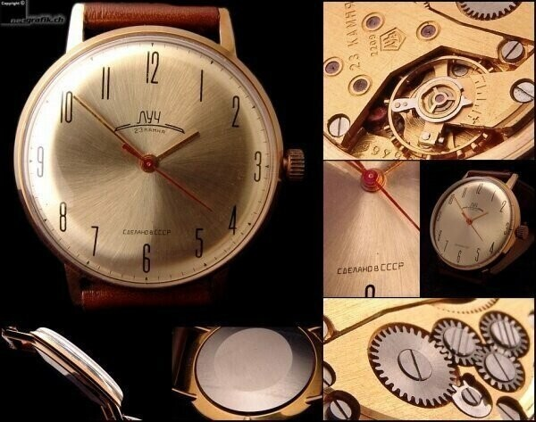 Популярные наручные часы вСССР