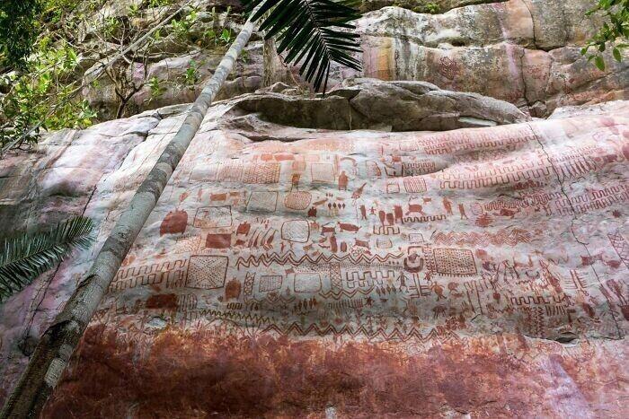 """1. """"Холст"""" длиной 13 километров, заполненный изображениями вымерших животных ледникового периода"""