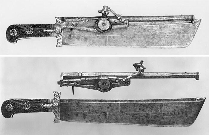 26. Немецкий охотничий нож. Он же ружье, он же календарь, 1528-29 гг.