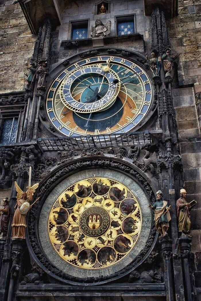 7. Пражские астрономические часы - самые старые действующие часы в мире, 1410 год