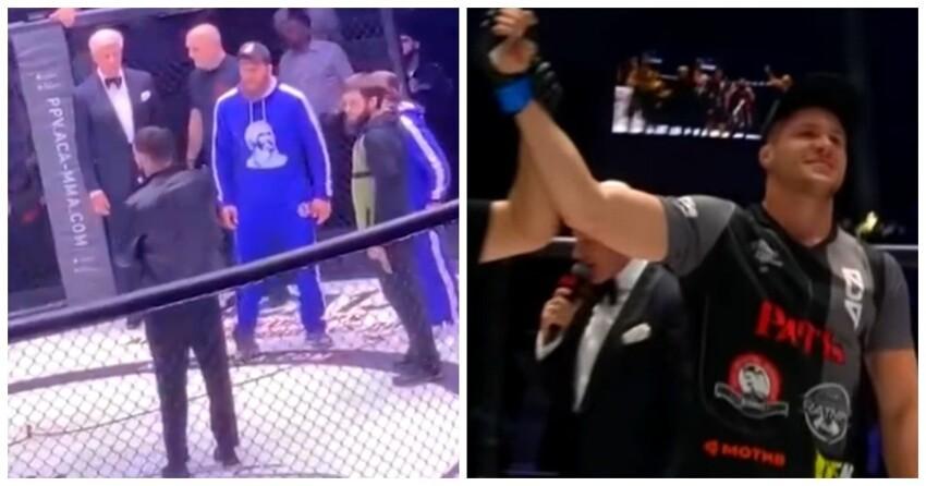 Кадыров заставил извиниться чеченца, бросившего бутылку врусского бойца MMAвГрозном