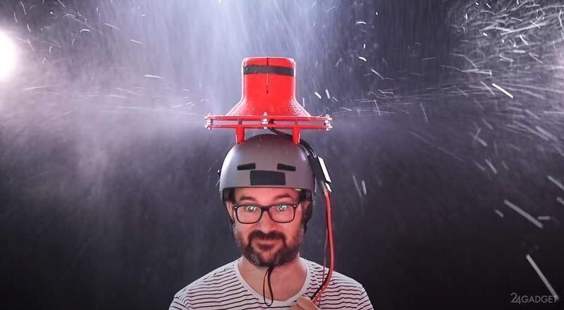 Эксперимент - вентилятор вместо зонта (видео)
