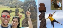 'Disrespectful' tourists are ruining Easter Island by trampling on sacred graves and taking selfies