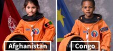 14 Portraits That Depict Kids From Around The World As Astronauts